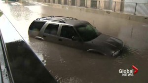 Torrential downpour puts Winnipeg underwater