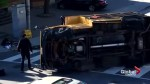 School bus rollover in downtown Toronto injures 5 children