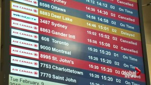 Storms causes delays at Halifax Stanfield International Airport