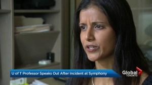 U of T professor upset after she says she was verbally abused, assaulted by patron at Toronto symphony