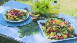 Salad recipes using locally produced canola oil