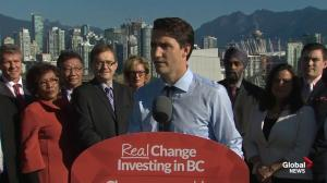 "Trudeau announces ""historic"" transit investment promise, nearly $20 billion more over next decade"