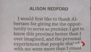 Alison Redford resigns from politics