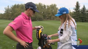 Here's what happens when sports anchors caddy