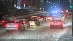 Motorists spin their wheels after snow storm hits GTA on Thursday