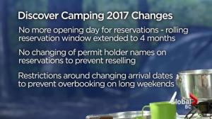 Province changes camping reservation system