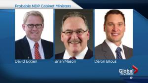 NDP cabinet to be revealed, sworn in Sunday