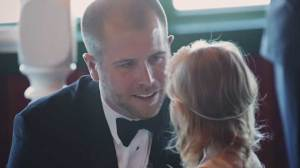 NASCAR driver's vows to stepdaughter during wedding ceremony goes viral