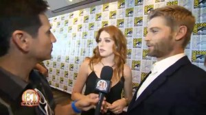 "Rachelle Lefevre And Mike Vogel Talk 'Under The Dome"" – At Comic-Con 2014"