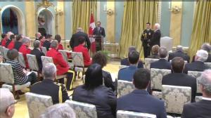 RCMP Constable Somoza Célestin receives Medal of Bravery for his actions during Ottawa shooting