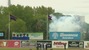 Winnipeg Goldeyes Raise Championship Banner