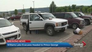Williams Lake evacuees sent to Prince George