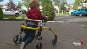 Social media helps reunite little boy with specialized walker