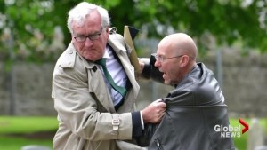 Canadian Am-badass-ador? Kevin Vickers nabs protester in Dublin