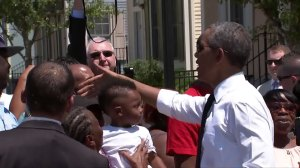 President Obama in New Orleans for 10th anniversary of Hurricane Katrina