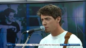 Matt Morson performs on The Morning Show