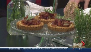 Rosemary and baked apple cheesecake