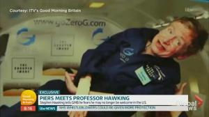 Stephen Hawking looking forward to space trip with Richard Branson