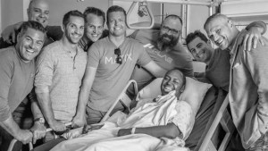Former football stars gather in support of Halifax man