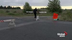 Evacuation order lifted near Burns Bog fire