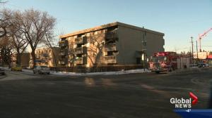Homicide and arson investigation following downtown apartment fire
