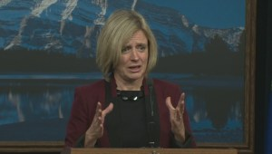 NDP Leader Rachel Notley speaks about Bill 10