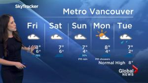 BC Evening Weather Forecast: Nov 24