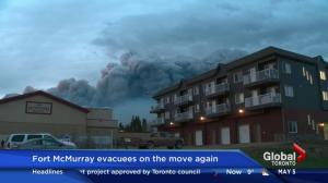 Fort McMurray wildfire: Unpredictable weather forces evacuees in Anzac further south