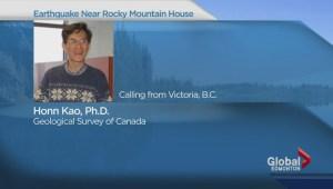 Earthquake hits near Rocky Mountain House