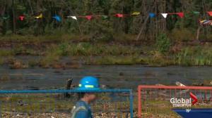 Nexen gives tour of spill site