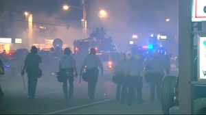 Another night of violent clashes between protesters and Police in Ferguson
