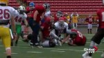 Southern Alberta's top senior high school football players' tryout for Team South all-star team