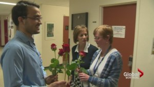 500 roses for Montreal General Hospital nurses
