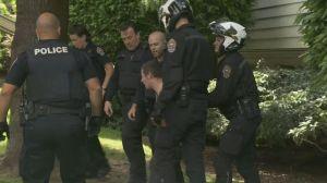 Victoria police takedown break & enter suspect
