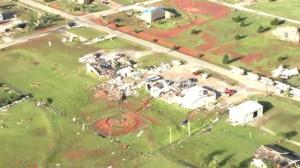 Aerial footage shows incredible aftermath of Oklahoma tornado