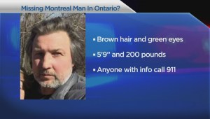 Missing Montreal man could be in Ontario
