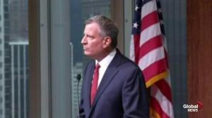 Bill De Blasio chokes up when addressing divide between police and community