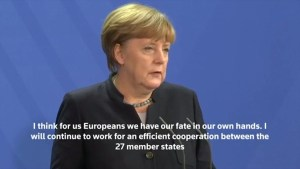 Merkel responds to Trump saying Europe's fate is in its own hands