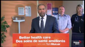 Mulcair announces plan to expand clinics and hire healthcare workers to give Canadians more access to doctors
