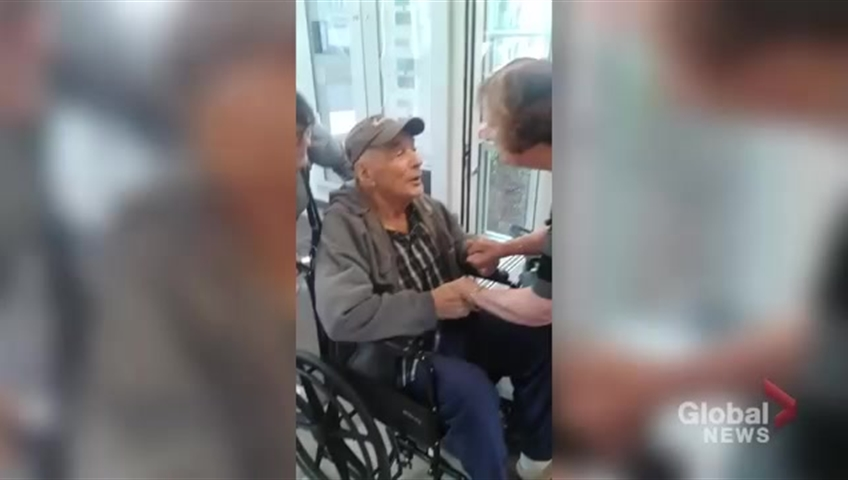Elderly couple separated for almost a year finally reunited