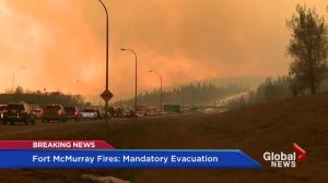 Wall of flames moves faster as Fort McMurray residents evacuate