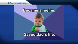 #SuccessKid saves dad's life with online campaign