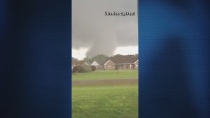 Tornado forms over Mississippi Delta