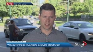 Police investigate Granville Island crash
