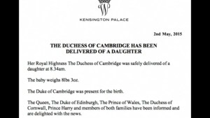 It's a girl for Prince William and Kate