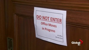 Moving day at B.C. Legislature for political parties