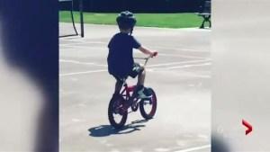 Matt can ride a bike!