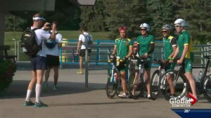 Elite triathletes in Edmonton