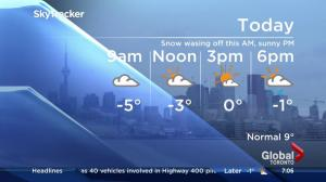 Cool temperatures expected to leave chill over GTA