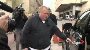 Rob Ford back in hospital for chemotherapy